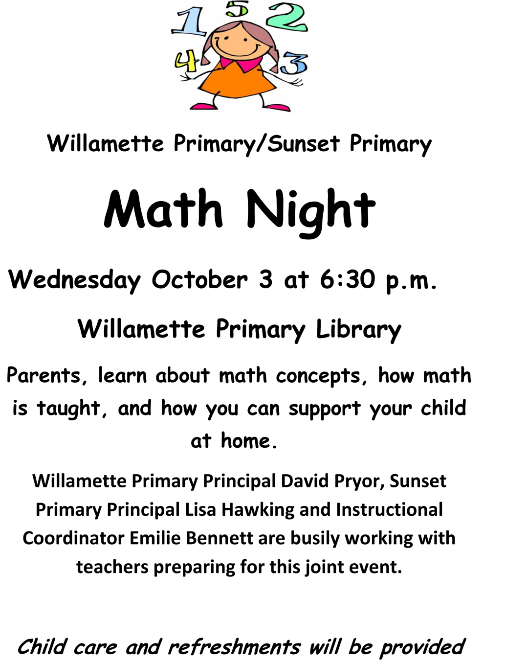 Math Education Night