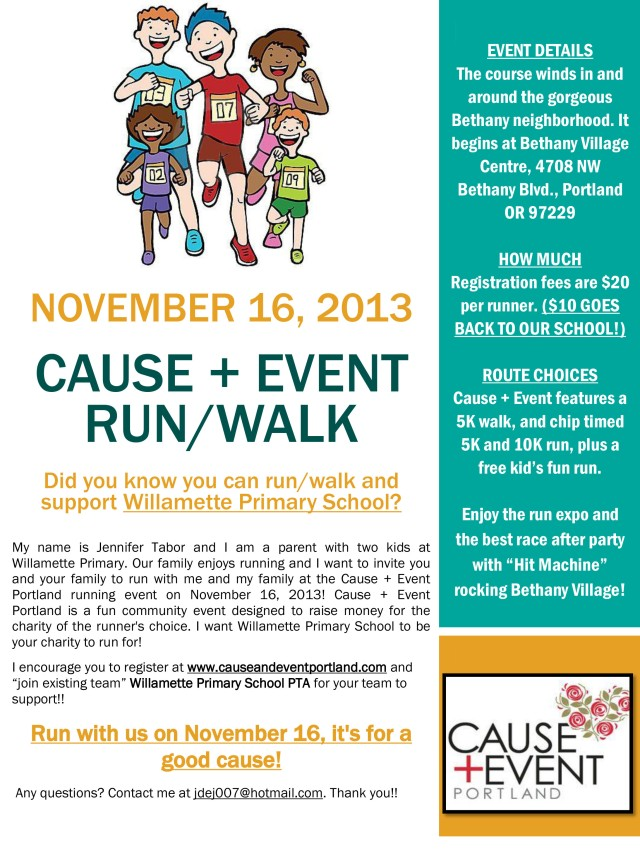 Cause and Event Run Flyer, version 2