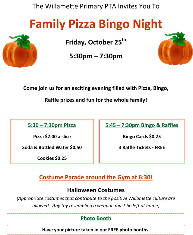 Pizza Bingo Night Flyer 2