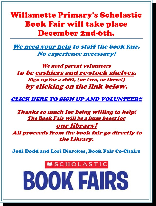 Book fair volunteers